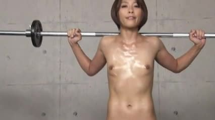 Mature muscle woman part hesitated moment