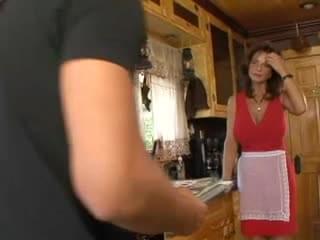 Milf seduces lady salesman