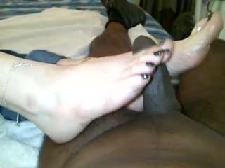 Lelu loveblack toenails gladiator sandals 6