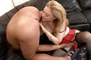 Wife gets throat fucked and licks ass