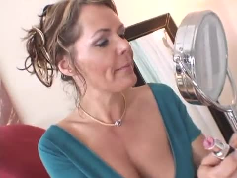 Mature gagging on cock