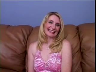 Milf blonde interview and sex