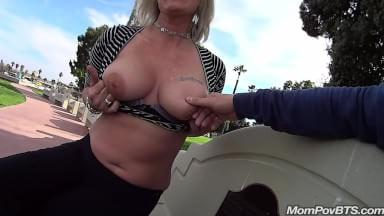 Milf public bathroom facial
