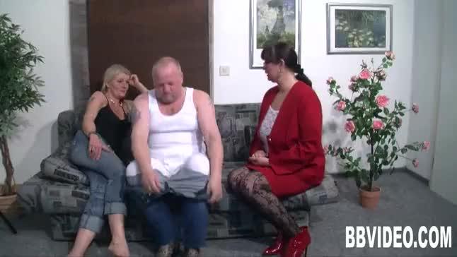 Milf german whores fucking a fat dude