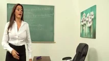 Milf teacher helps out boy