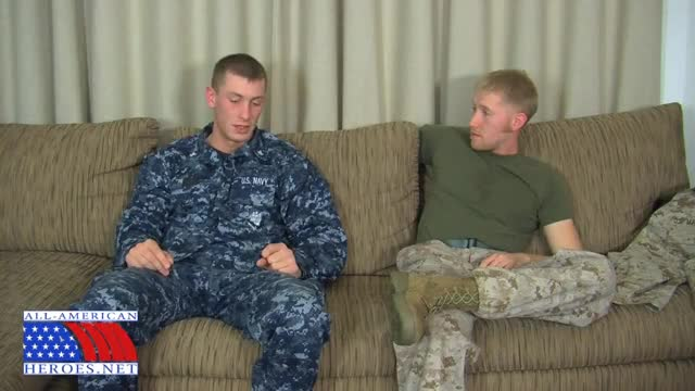 Gay military blowjob