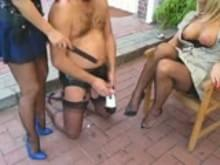 French maid stockings high heels