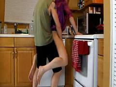 Women masterbating with a dildo