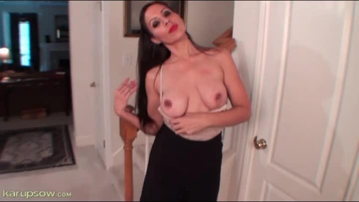 Ebony Beautiful Big Tits Solo