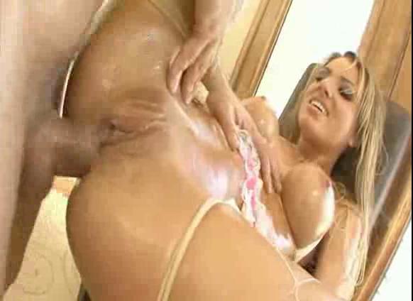 Sucking her own breast milk