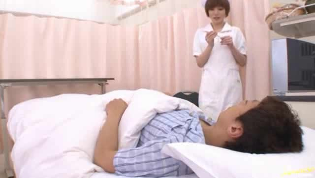 Advise you. female nurse seduces patient share