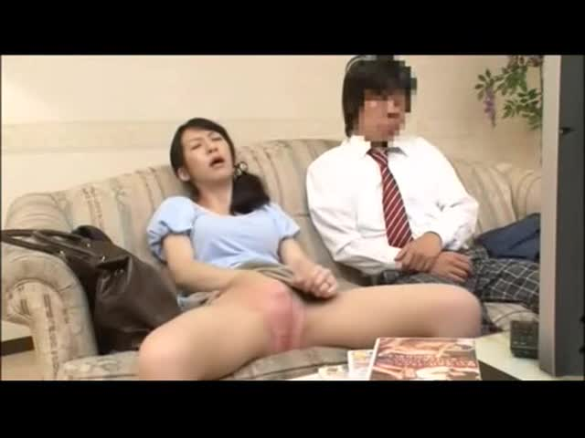 Spikespen japanese brother sister watching porn with