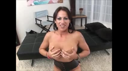 Cute brunette milf Moxxie Maddron is made to lick