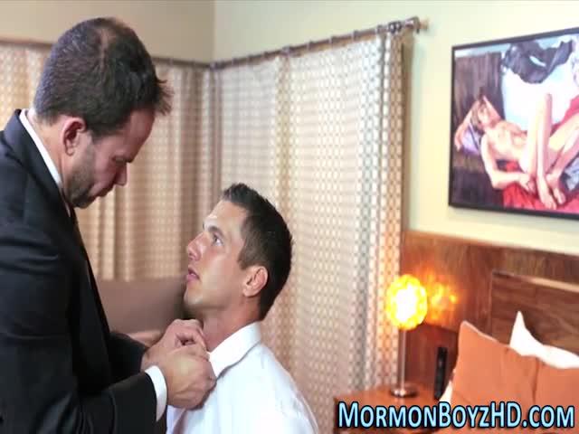 Muscly mormon ass fucked