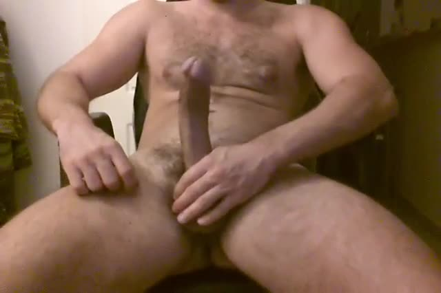 big fat hard cock JOY RIDER Teddy Grimes flips it, sticks it out and takes it hard.