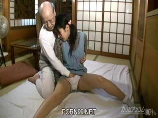 Grandpa cum in granddaughter