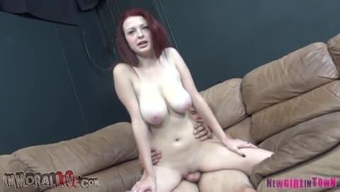 Big breasted redhead fucked with you