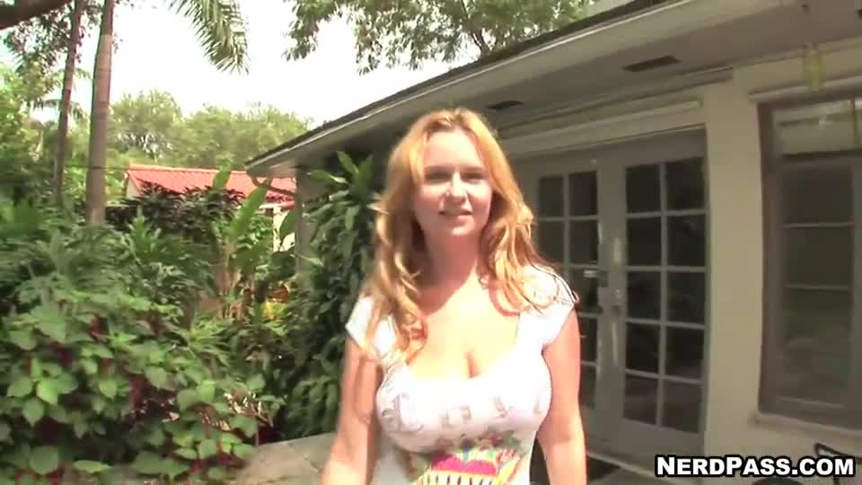Strawberry blonde nude big tits