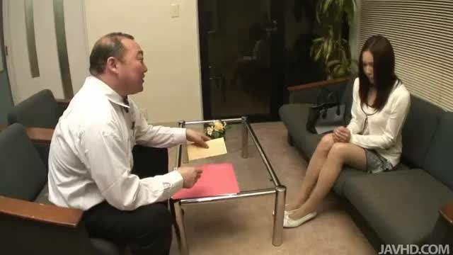 Nozomi mashiros job interview includes tit and pussy sucking 8