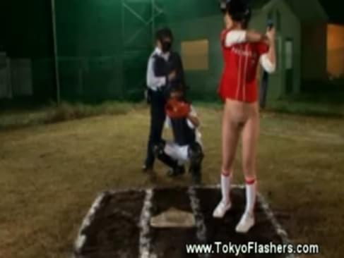 Consider, that Female naked at baseball hame could