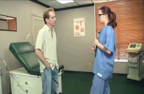 Nurse gives handjob