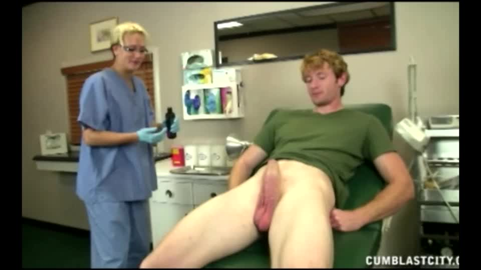 Cute girl helps guy in sperm bank porn hot!