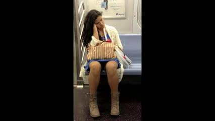 Milf upskirt in the subway