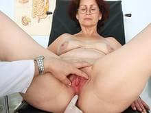 Mature hairy cum filled pussy