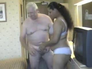 Old man fucks mature