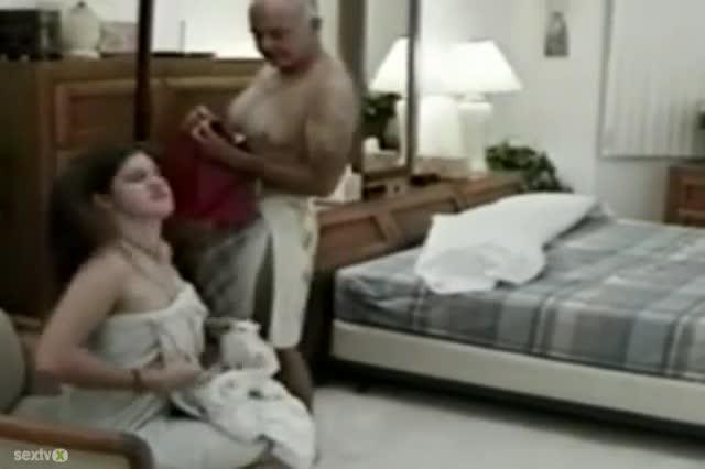 Old Black Man Eats Pussy