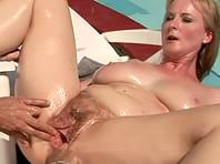 The hot milf getting butt fucked