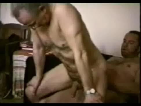 Older men and mature hairy grandpa sex. Seedy homemade video featuring old ...
