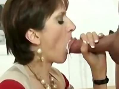 Milf mouth creampie