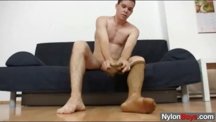 A guy playing with fleshlight