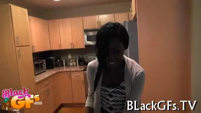 Black playgirl deepthroats cock and swallows jizz