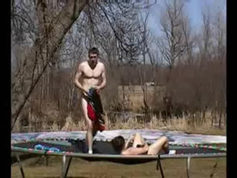 Porn hub naked tits on trampoline