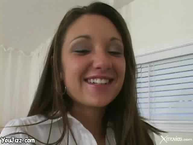Baby faced jordana james pov swallows a big load