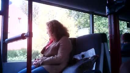 Masturbation bus Public on