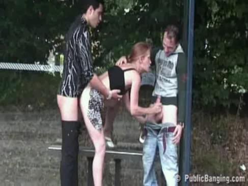 public sex extreme bus stop threesome 14 yr old girl having sex thumbnail. Lenght 47 min.