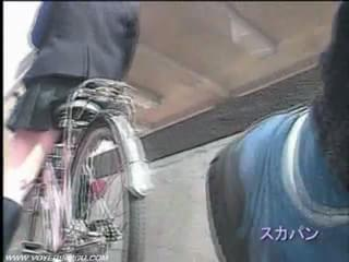 Trace of bicycle upskirt panties 10