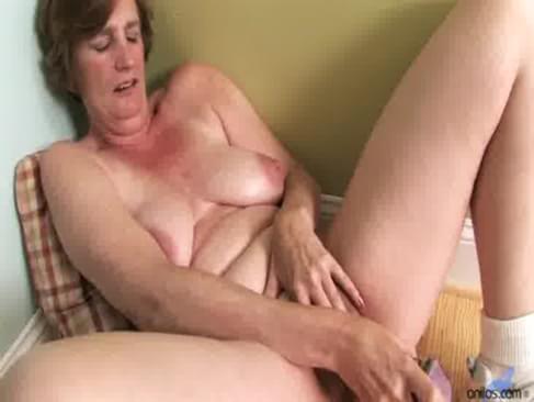 Mature masturbation dildo