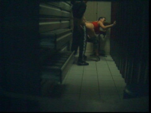 Real fucking party with whore in archive room,hidden cam.