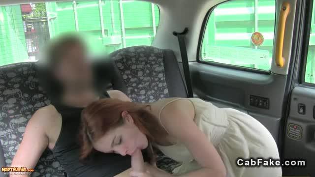 Fake taxi blowjob