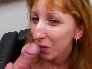 video amateur redhead blowjob facial