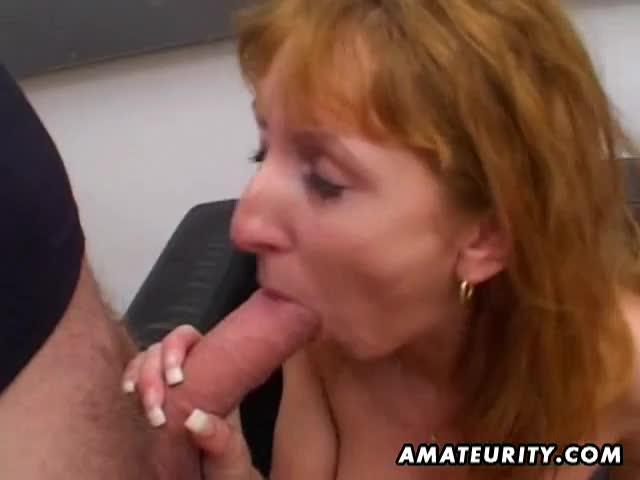 Redhead milf blowjob