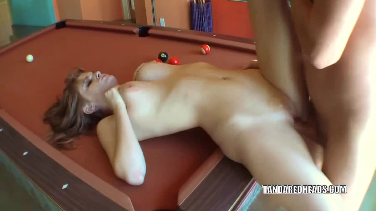 coed sex on a table