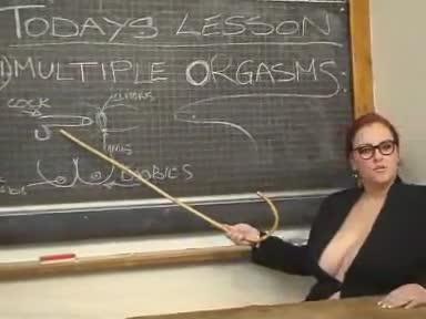 teacher Luscious redhead