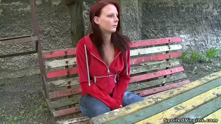 Virgin redhead fucked