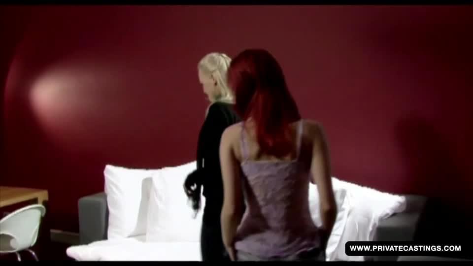 Redheaded ariel in a private lesbian casting