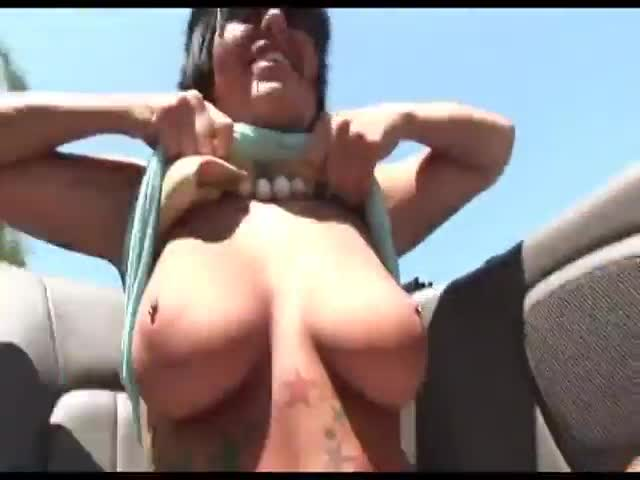 image Risky masturbation adventure in my car